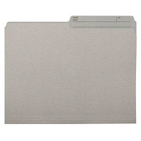 Grand & Toy Coloured File Folders, Grey, Letter-Size, 100/BX