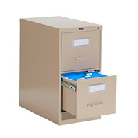 Global 2600 Series Economy Vertical File, 2-Drawer, Sand, Letter Size