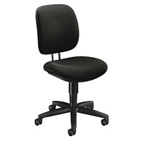 HON ComforTask Chair, Armless, Black, Confetti Fabric