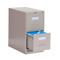 Global 2600 Series Economy Vertical File, 2-Drawer, Grey, Letter Size