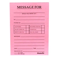 Grand & Toy Phone Message Pads, Pink, 4 1/4