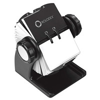 Rolodex WoodTones Black Wood Rotary Card File