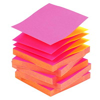 Post-it Pop-Up Notes in Alternating Colours, Fuchsia/Yellow, 3