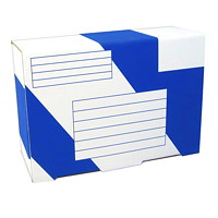 Boîtes d'expédition robustes Crownhill Packaging, blanc et bleu, 91/2po x 33/4po x 61/2po