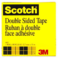 Ruban transparent à double face adhésive Scotch 12,7mm