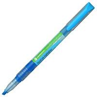 Surligneur à encre liquide Grand & Toy, bleu pâle fluorescent, pointe biseautée