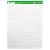 Blocs de papier microperforé format lettre Grand & Toy, blanc à réglure large, 81/2po x 11po, emb. de 10
