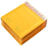 Grand & Toy Self-Adhesive Bubble Mailers, Kraft, CD/DVD-Size, 12/PK