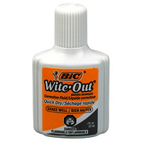 BIC Wite-Out Brand Quick Dry Correction Fluid, White