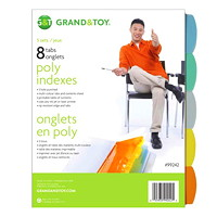 Grand & Toy Poly Index Dividers