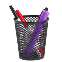 Porte-crayons en mailles noires Grand & Toy