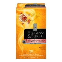 Higgins & Burke Gourmet Selection Herbal Tea, Cranberry Pomegranate, 20/BX