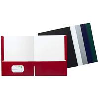 Grand & Toy 100% Recycled High Gloss Twin-Pocket Portfolio, White, 8 1/2