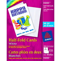 Avery Half-Fold Greeting Cards, White, 5 1/2