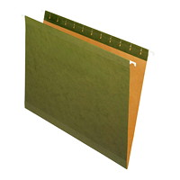 Grand & Toy Reinforced Hanging Folders, Green, Letter-Size (8 1/2