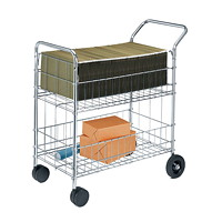 Fellowes Heavy-Duty Mail Cart