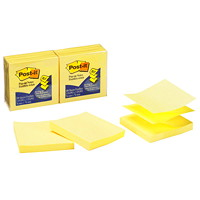 Post-it Pop-Up Notes, Unlined, Canary Yellow, 3