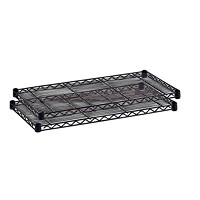 Safco Wire Shelves, Black, 48