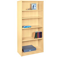 HDL 5-Shelf Hardrock Maple Bookcase