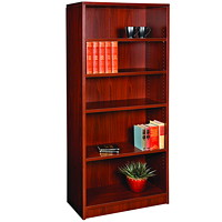HDL 5-Shelf Royal Mahogany Bookcase