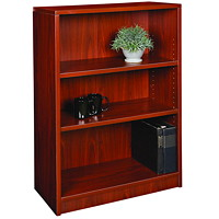 HDL 3-Shelf Royal Mahogany Bookcase