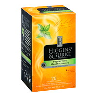 Higgins & Burke Gourmet Selection Herbal Tea, Peppermint, 20/BX