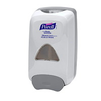 Purell FMX Push-Style Hand Sanitizer Dispenser, White, 1,250 mL Capacity