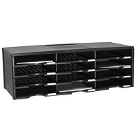 Storex 12-Compartment Recycled Document Sorter