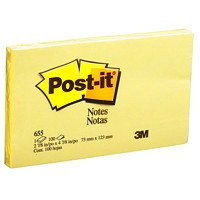 Post-it Original Notes, Canary Yellow, 2 7/8