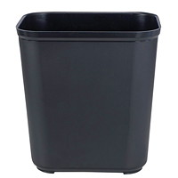 Rubbermaid Fire-Resistant Wastebasket, Black, 26.5 L