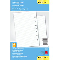 Day-Timer Lined 7 Hole-Punched Note Pages, 5 1/2