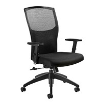 Global Alero High-Back Tilter Chair, Black, Jenny Fabric