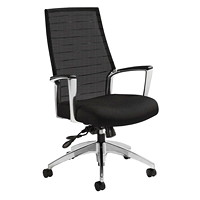 Global Accord High-Back Tilter Chair, Black, Jenny Fabric