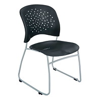 Safco Reve Guest Chairs, Black - Set of 2