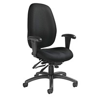 Global Malaga High-Back Multi-Tilter Chair, Black