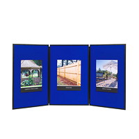 Quartet Exhibition 3-Panel Tabletop Display System, 72
