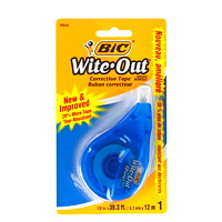 BIC Wite-Out Brand EZ Correct Correction Tape, White, 1/Pk