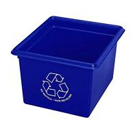 Bac de recyclage de bureau Fellowes, bleu, capacité de 14l