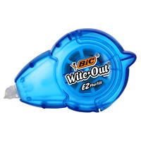 Bic Wite-Out EZ-Refill Correction Tape, White, 1/Pk