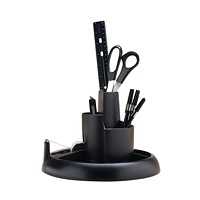 Rubbermaid Rotary 3-Tier Desk Organizer with Supplies