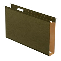 Pendaflex Extra-Capacity Hanging Folders With Box Bottoms And Dispenser