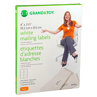 Grand & Toy White Mailing Laser Labels