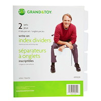 Grand & Toy Write-On Index Dividers