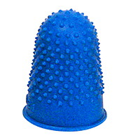 Grand & Toy Rubber Finger Pads, Blue, Large, 11/16