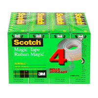 Scotch Magic Tape Refill Bulk Pack 4pk