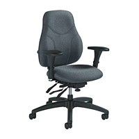 Global Tritek Multi-Tilter Chair, Mid-Back, Grey, Sprinkle Fabric