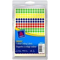 Étiquettes à codage couleur amovibles non imprimables Avery