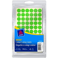 Avery Non-Printable Removable Colour-Coding Labels, Green, 1/2