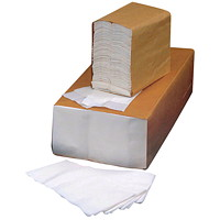 Prime Source 2-Ply 1/8-Fold Dinner Napkins, White, 375 Sheets/PK, 8/CS