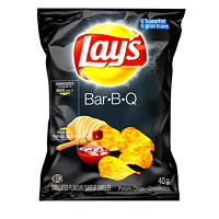 Lay's Potato Chips, Bar-B-Q, 40 g, 40/CT